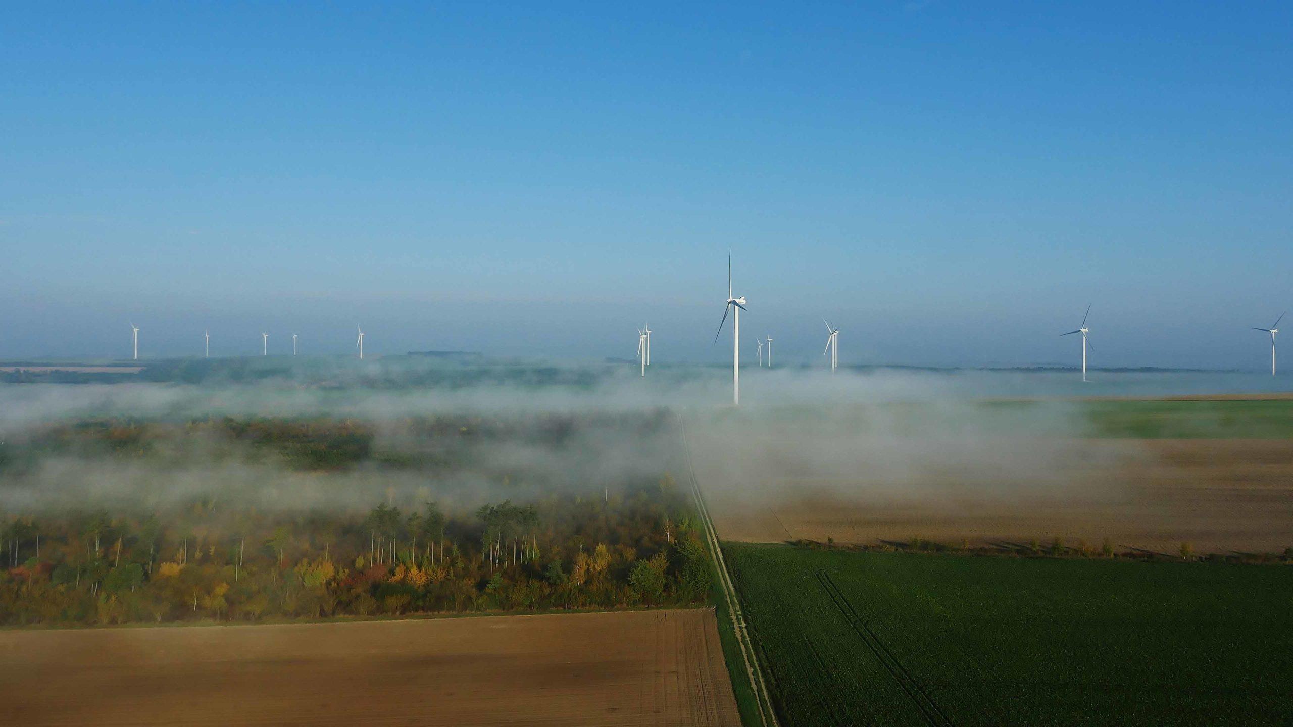 Les éoliennes de Saint-Benoist-sur-Seine
